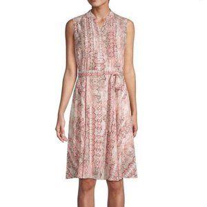 NEW Nanette Lepore Pleated Snake Print Dress